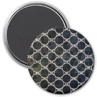 Black Onyx Bling Pattern 7.5 Cm Round Magnet