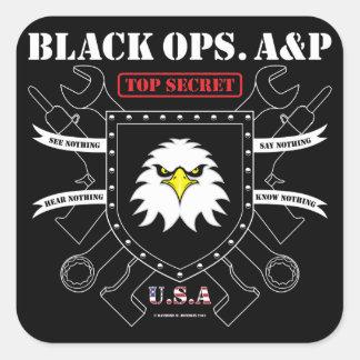 Black Ops. A&P Square Sticker
