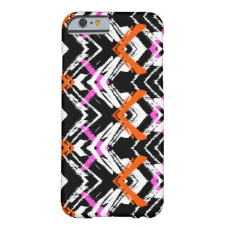 Black, Orange, And Pink Hand Drawn Arrow Pattern Barely There iPhone 6 Case