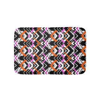 Black, Orange, And Pink Hand Drawn Arrow Pattern Bath Mat