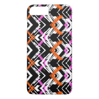 Black, Orange, And Pink Hand Drawn Arrow Pattern iPhone 8 Plus/7 Plus Case