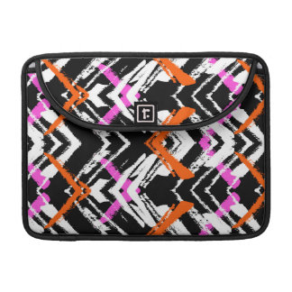 Black, Orange, And Pink Hand Drawn Arrow Pattern Sleeves For MacBook Pro