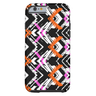 Black, Orange, And Pink Hand Drawn Arrow Pattern Tough iPhone 6 Case
