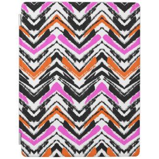 Black, Orange, And Pink Hand Drawn Chevron Pattern iPad Cover
