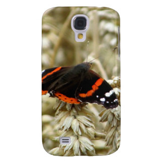 Black Orange and White Spotted Butterfly Galaxy S4 Case
