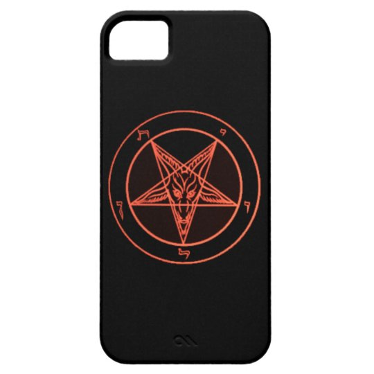 Black/Orange Baphomet Phone Case