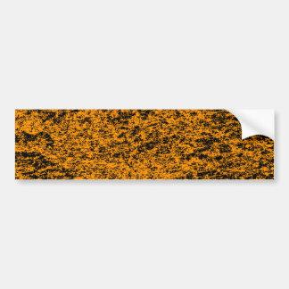 Black & Orange Marble Background Bumper Sticker