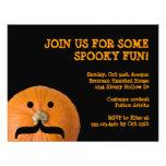 Black orange moustache pumpkin host Halloween part Announcement