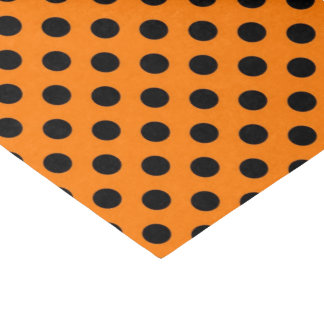 black orange polka dot pattern tissue paper