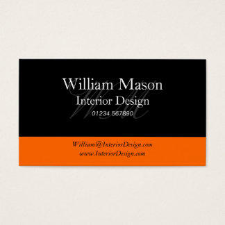 Black & Orange Professional Business Card