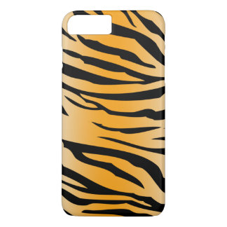 Black Orange Tiger Stripes iPhone 8 Plus/7 Plus Case