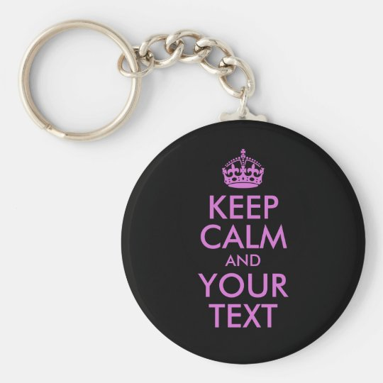 Black Orchid Keep Calm and Your Text Basic