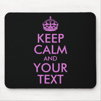 Black Orchid Keep Calm and Your Text Mouse Mat