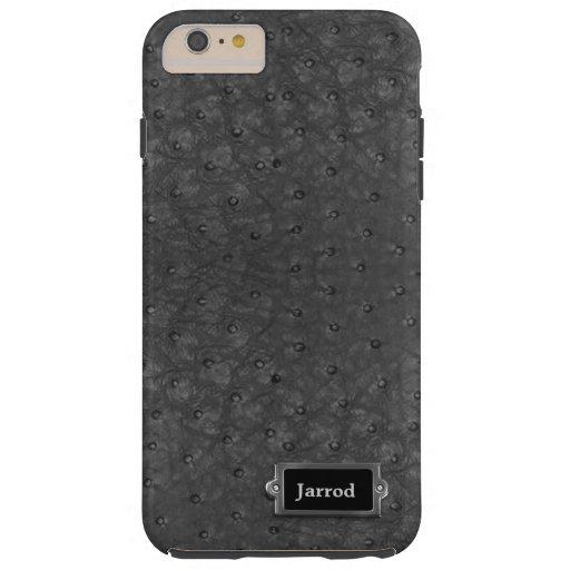 Black Ostrich Leather Look iPhone 6 Plus Case iPhone 6 Case