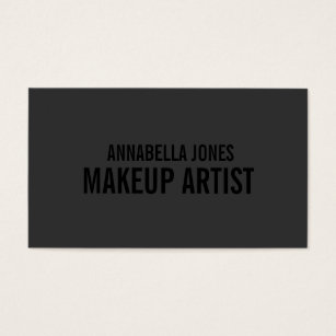 Business cards business card printing zazzle uk black out makeup artist business cards reheart Image collections