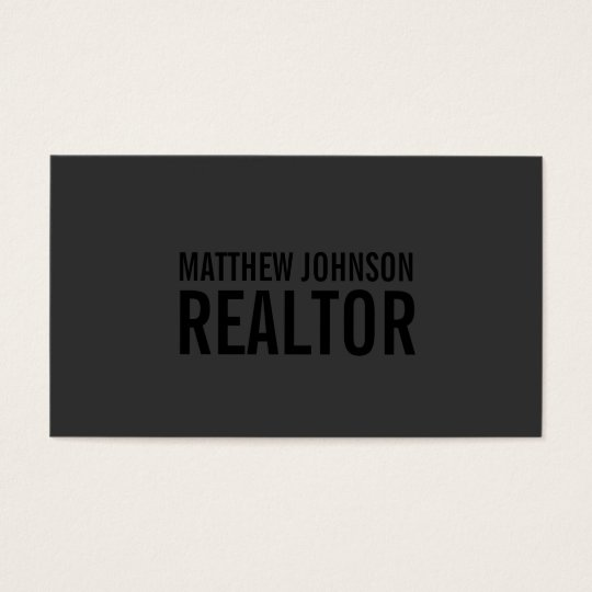 Black Out Realtor | Business Cards