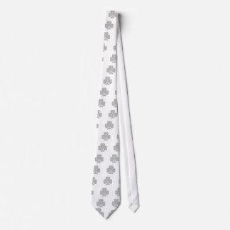 Black Outline Celtic Shamrock T's Tie