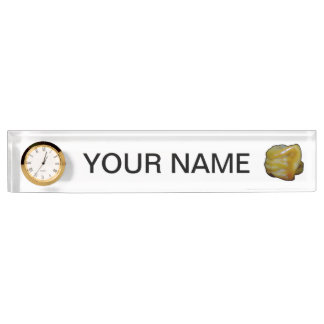 black outline habanero yellow graphic name plate