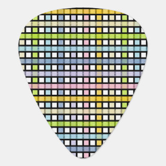 Black Outlined Pastel Rainbow Weave Plectrum