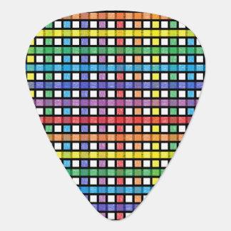 Black Outlined Rainbow Weave Plectrum