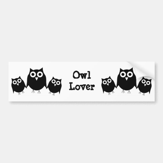 Black Owl Bumper Sticker