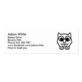 Black owl business cards