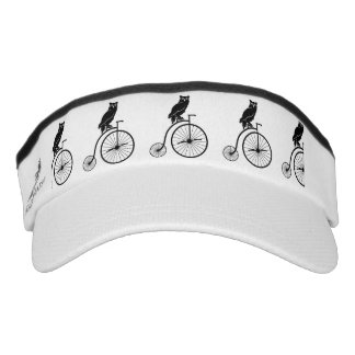 Black Owl on a Bike Silhouette Visor