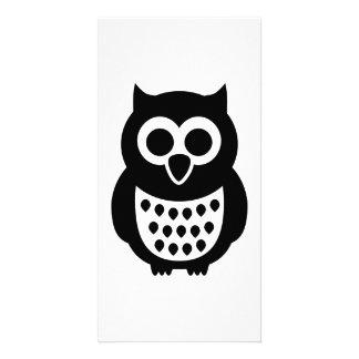 Black Owl Photo Card
