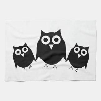 Black Owls American MoJo Kitchen Towel