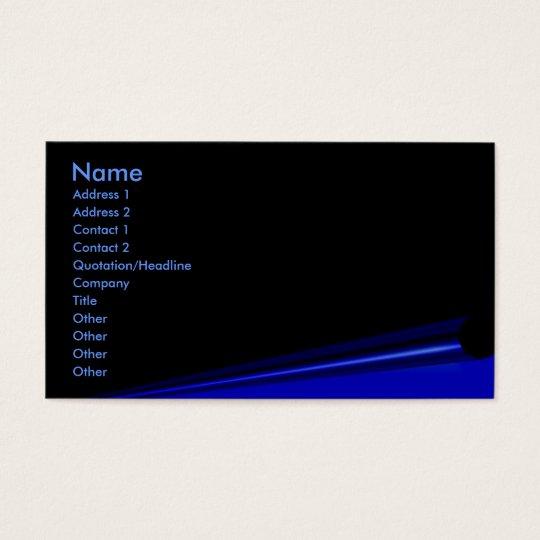 Black Page Curl Profile Card