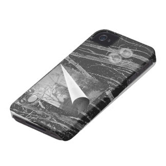 Black Page Curl with Eyes Case-Mate Case iPhone 4 Cases