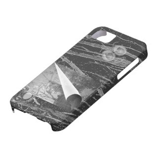 Black Page Curl with Eyes Case-Mate Case iPhone 5 Covers