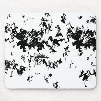 Black Paint Mouse Pad