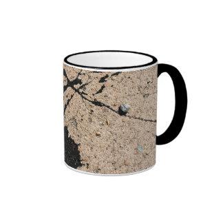Black Paint Splatter Ringer Mug