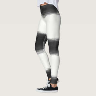 Black Paint Strokes Leggings