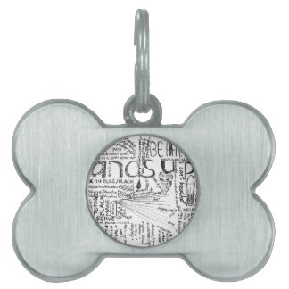 BLACK, Painting Planning, copyright 2016 Stacey Le Pet ID Tags