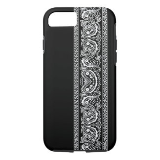 Black Paisley Bandana iPhone 7 case