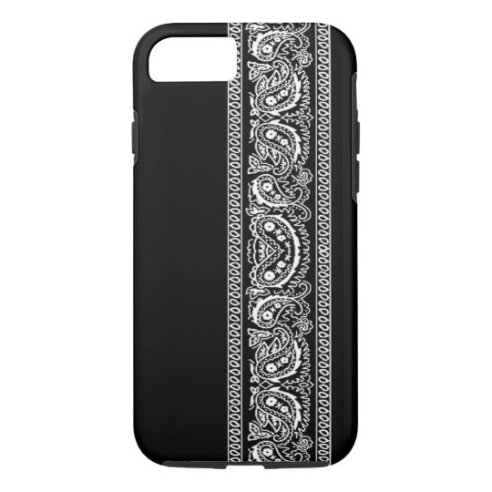 Black Paisley Bandanna iPhone 7 case