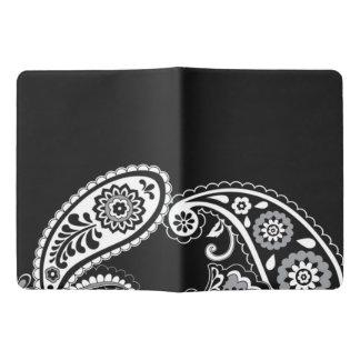 Black Paisley Custom Notebook - Extra Large