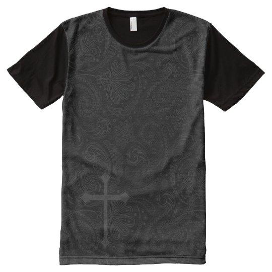 Black paisley with cross Shirt