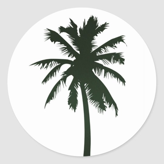 Black Palm Tree Sticker