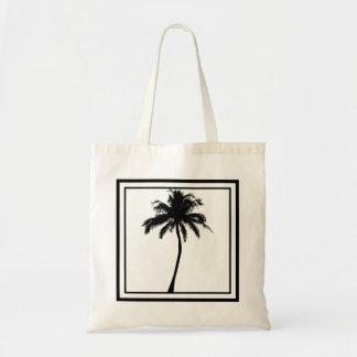 Black Palm Tree Tote Bag