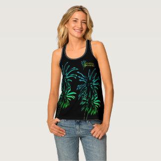 Black Palm Trees Destination Customize It Bermuda Tank Top