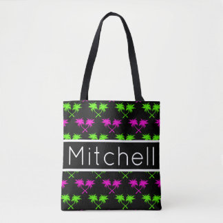 Black Palms Personalized Tote Bag