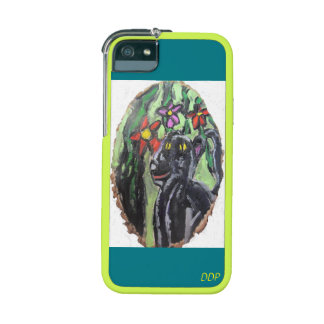 Black panther and flowers and Jungle Cover For iPhone 5