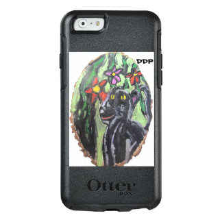 Black panther and flowers and Jungle OtterBox iPhone 6/6s Case