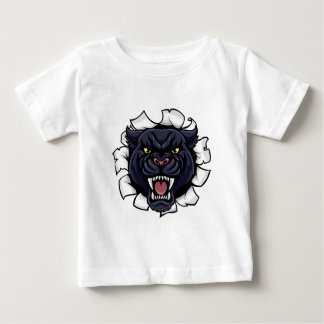 Black Panther Background Breakthrough Baby T-Shirt