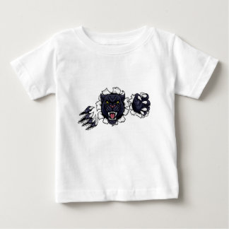 Black Panther Background Claws Breakthrough Baby T-Shirt