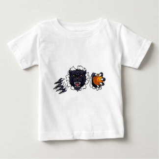 Black Panther Basketball Mascot Baby T-Shirt