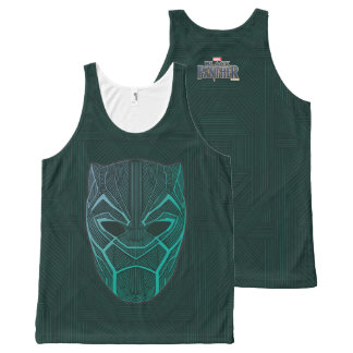 Black Panther   Black Panther Etched Mask All-Over Print Tank Top